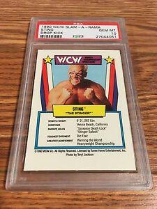 1990 WCW Slam-A-Rama Sting Wrestling Game Card PSA 10 WWE NWA TNA UWF HOF ROH