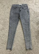 "COTTON ON Womens Size 8 Gray Acid Washed Skinny Jeggings Jeans 29"" Inseam"