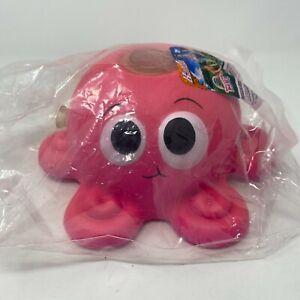 NEW Squeezable & Squishy Splash Octopus Sprinkler Banzai - Pink -  Hot Pink Cute