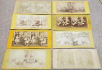 Antique Stereoscopic Stereoview Cards Set of 8 Antique c1880 Cards