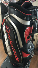 New listing TaylorMade Mid-Staff Cart Bag, Red & Black, GPOC, Single Strap