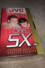 1 JVC 6 Hrs Premium Quality 5X 120 VHS Video Cassette  New
