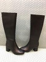 Steve Madden INVITE Black Leather Back Zip Knee High Boots Women's Size 9 M