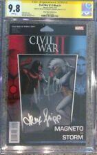 Civil War II: X-Men #1 Action Figure__CGC 9.8 SS__Signed by Fassbender & Shipp
