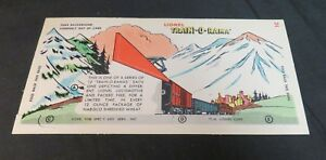 VTG 1956 Lionel Nabisco Train-O-Rama 1C Punch Out Model, Original, Unpunched