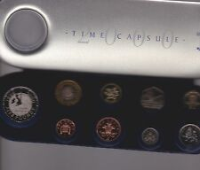 2000 Set di 9 monete in Royal Nuovo di zecca Capsula del Tempo di
