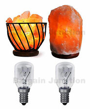 2 x Himalayan Salt Lamp Bulb 15w E14 Screw in Pygmy Bulbs Fridge Appliance Oven