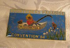 Sportsmen'S Paradise Convention 1984 Vintage Fishing Pin