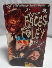 WWF - Three Faces of Foley (VHS, 1998) cactus jack dude love mankind mick foley