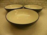 COLORWAVE GRAPHITE 3 Coupe Soup Bowls Noritake Stoneware 8034 Indonesia NICE