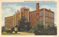 Rock Island Illinois~County Tuberculosis Sanitorium~1938 Linen Postcard