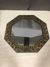 """Partylite Retired Global Fusion 12"""" Hexagon Mirror Mosaic Candleholder"""