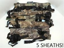 5 Realtree Camouflage Gun Barrel Stick Squeegy Squeegee Leg Holster Sheaths Lot
