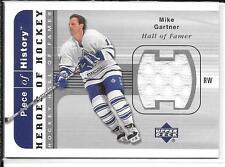 02-03 UD Piece of History Heroes of Hockey Mike Gartner Jersey Card