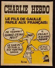 "* Revue CHARLIE HEBDO n°31 Lundi 21 juin 1971 ""Le fils De Gaulle ... """