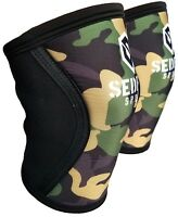 Sedroc Weight Lifting Knee Compression Sleeves Crossfit Gym Training Green Camo