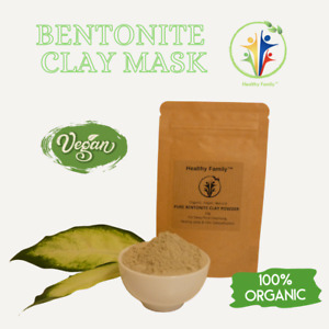 Pure Calcium Bentonite Healing Clay Detox Cleanse Powder, vegan- travel size 15g