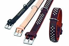 Rondo weiches Leder-Halsband mit Ziernieten 37 cm / 22 mm S schwarz Nappaleder