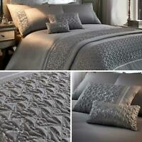 Grey Duvet Covers Satin Sequin Sparkle Glamour Silver Quilt Cover Bedding Sets