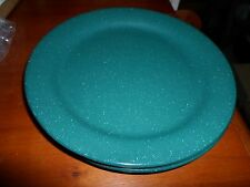 Vintage Melmac Melamine Set Of 4 G E T Green Speckled Restaurant Lunch Plates