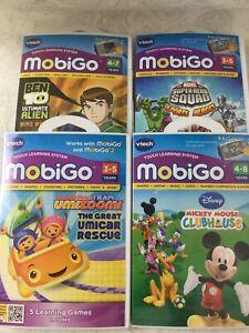 VTech Mobigo Touch Learning System 4 x Games Marvel Ben 10 Umizoom Mickey V925