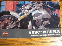 2009 Harley-Davidson V-Rod VRSC Original Owner's Owners Manual