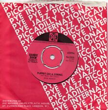 SANDIE SHAW    PUPPET ON A STRING  /  TELL THE BOYS    UK PYE   60s POP