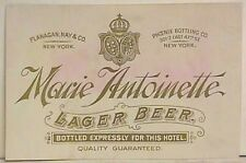 Pre-pro Marie Antoinette Lager Beer Label New York, NY