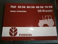 Fiat tracteur 55 60 65 70 - série 56 : notice d'utilisation