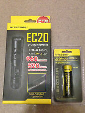 NEW NITECORE EC20 960 LUMENS EXPLORER LED FLASHLIGHT w/2300mAh battery