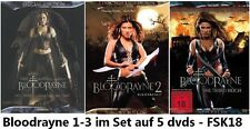 Bloodrayne 1-3 dvd Set,triologie, neu,Uwe Boll,Blood Rayne,Kristanna Loken,1,2,3