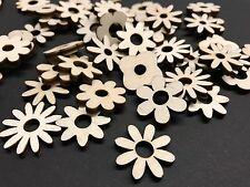 Blumen Mix 50 Streudeko Holz Tischdeko Deko Bastel Zubehör  Blümchen helles Holz