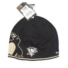 New NHL CCM Pittsburgh Penguins Men's Winter Hat Hockey Black Reversible Toque
