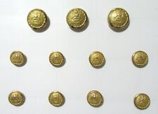 Holland & Sherry Brass Blazer Replacement Buttons Eagle Set of 11
