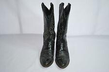 Justin Black London Calf Western Boots Style 1409 Men's Sz 7