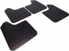 Rally Armor Basic Universal Mud Flaps Set Of 4 No Hw Black With Red Mf12 Bas Rd