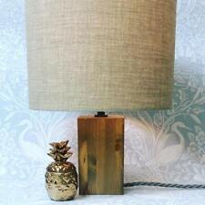 MAKE YOUR OWN WOODEN LAMP KIT - WOOD BASE AND CHOICE OF CABLE