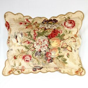 Jane Wilner Floral Pillow Sham Standard Jane Wilner Haute Couture EUC