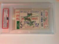 "1970 WORLD SERIES GAME 5 TICKET ""CLINCHER"" - PSA 6- BROOKS ROBINSON MVP"