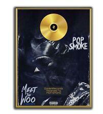 Pop Smoke Poster, Meet The Woo GOLD/PLATINIUM CD, gerahmtes Poster HipHop Rap