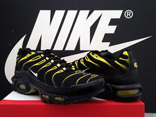 DS 2018 NIKE AIR MAX PLUS UK10.5 EU45.5 BLACK YELLOW TN TUNED BW 180 95 97 98 OG