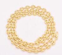 4.7mm Puffed Gucci Mariner Link Chain Necklace Real Solid 14K Yellow Gold Unisex