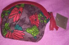 Anthropologie Lucky Penny Floral Coin Purse Bag  Nwt