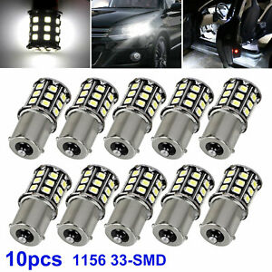 10X Super White 33 SMD LED 1156 1141 1003 RV Camper Trailer Interior Light Bulb