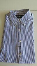NEU Ralph Lauren  Hemd gestreift weiß blau Gr. 16,5 / 42 / L