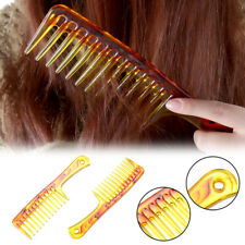Hair Brush Wide Tooth Comb Black Plastic Heat-resistant Large Wide Tooth Comb