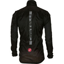 Castelli SQUADRA ER Jacket Lightweight Windproof Cycling Wind/Rain Shell BLACK M