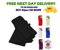 """BLACK Polyester NAPKINS for Wedding Table Linen Dinner Napkin 20"""" x 20"""" VAT"""