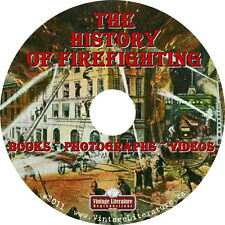 History of Firefighting { Vintage Books ~ Catalogs ~ Firemen Photos } on DVD