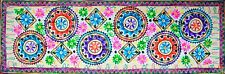 Embroidered Mandala Tapestry Wall Hanging Table Bed Runner Woollen India RN004